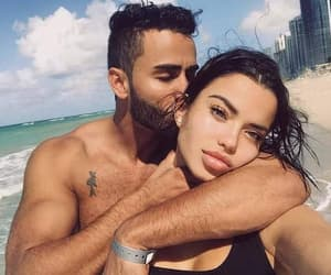 baby, beach, and couple image