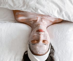 face mask, girl, and relaxation image
