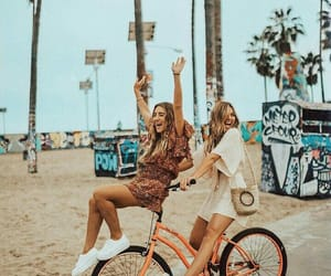 girl, summer, and friendship image