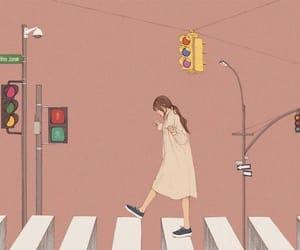 art, drawing, and crosswalk image