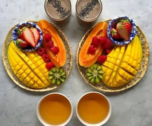 breakfast, fruit, and colorfull image