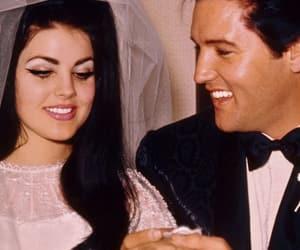 Elvis Presley, wedding, and vintage image