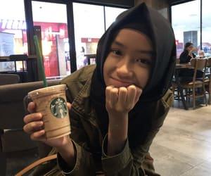 cafe, coffee, and hijab image
