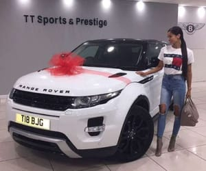 car, range rover, and girl image