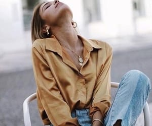 fashion, jean, and top image