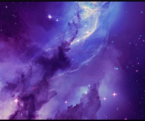 galaxy, milky way, and purple image