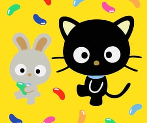 chococat, jelly beans, and sanrio image