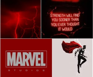 Avengers, Marvel, and red image