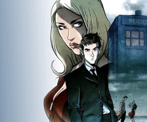 billie piper, rose tyler, and tenth doctor image