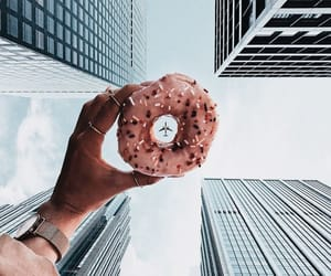 donut, lifestyle, and pink image