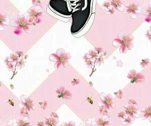 background, pink, and shoes image