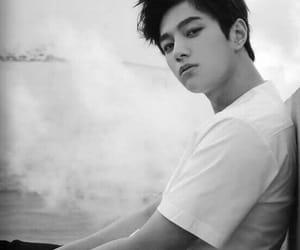 black & white, man, and shirt image