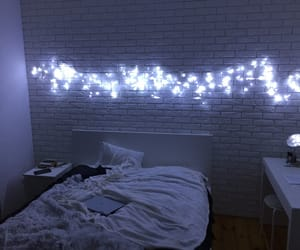 light, bed, and aesthetic image