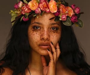 flowers, beauty, and freckles image