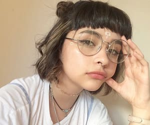 girl, glasses, and aesthetic image