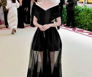 lily collins, black, and fashion image