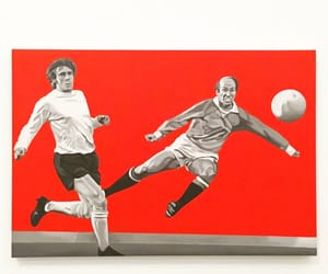 art, football, and manchester united image