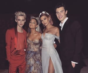 ariana grande, shawn mendes, and hailey baldwin image