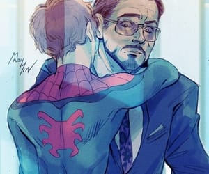 iron man, Marvel, and spiderman image