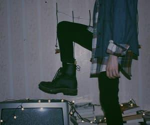 grunge, tv, and black image