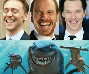 funny, tom hiddleston, and benedict cumberbatch image