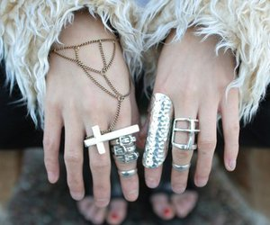 rings, cross, and ring image