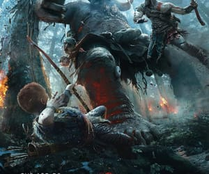 god of war, wallpaper, and gow image