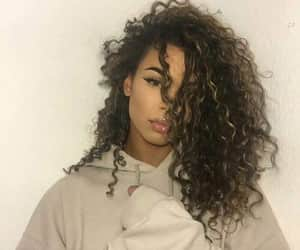 girl, curly, and hair image