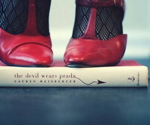 book, Devil, and girl image