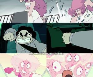 rose quartz, pink diamond, and steven universe image