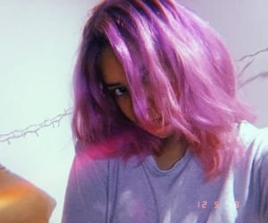 aesthetic, grunge, and pink hair image