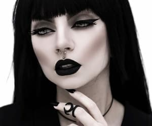 goth, makeup, and Self Portrait image