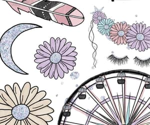 eyes, wallpaper, and flower image