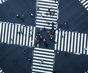 crosswalk, intersection, and lines image