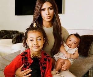 kim kardashian, mommy, and north west image