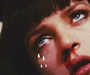 pulp fiction, blood, and mia wallace image