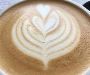 art, cappuccino, and coffee image