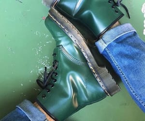 green, doc martens, and dr martens image