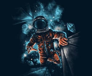 painting, drawing, and astronaut image