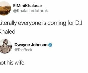 Dwayne Johnson, twitter, and funny image