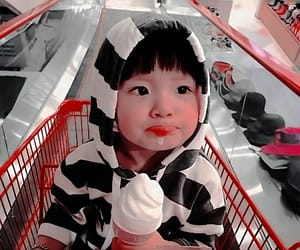 kids, asian, and baby image
