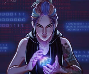 fan art, marie lu, and warcross image