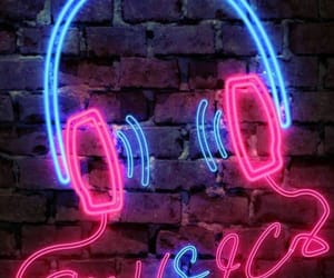 blue, headphones, and music image