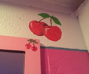 aesthetic, pink, and cherry image