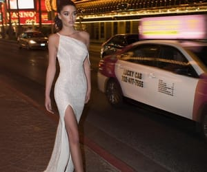 dress, girl, and glamourous image