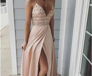 dress, fashion, and prom gown image