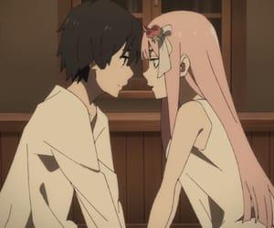 darling, hiro, and pink image