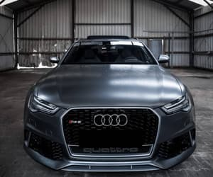 grey, car, and rs6 image