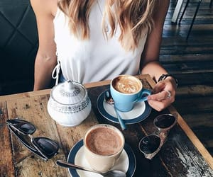 coffee, tumblr, and drink image