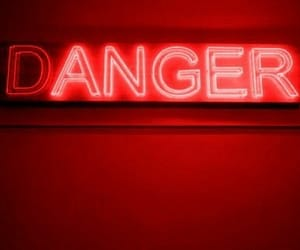 neon, danger, and red image